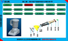 第二章:第4节,果汁机产品结构设计骨架创建及零件拆件(30分钟)