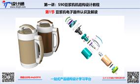 S90第一节:豆浆机结构组成及工作原理