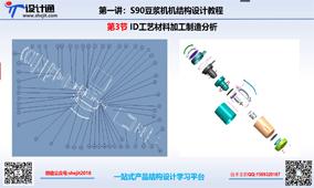 S90第三节:豆浆机结构设计ID工艺材料加工制造分析