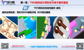 TWS降噪ANC耳机结构设计-磁铁规格种类及细节设计:第8节 (1434播放)